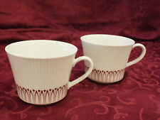 Vintage Lot of 10 Cups MCM Winterling Marktleuthen BAVARIA Burgundy on White