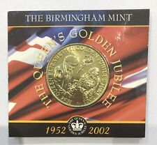 The Queen's Golden Jubilee 1952-2002 Coin By The Birmingham Mint