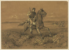 Civil War Drawings: An Advance of a Cavalry Skirmish Line : Fine Art Print