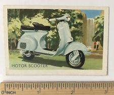 1960s VESPA MOTOR SCOOTER ITALIAN VINTAGE AUSTRALIAN TRADING CARD EXC-NM!!!