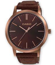 Casio Damen Uhr LTP-E118RL-5AEF Armbanduhr Leder braun Edelstahl bronze 41 mm