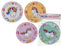 Pack of 8 Cute Unicorn Paper Plates 23cms Magical Party Tableware