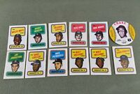 1970 Topps Story Booklets & 1976 Crane Potato Chips Baseball Disc MLB Cards Lot