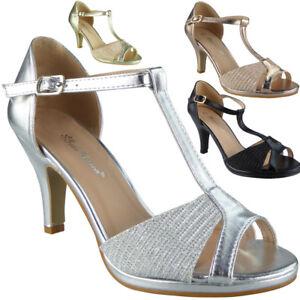 Ladies Peep Toe Sandals Womens Wedding Heels Bridesmaid Bridal Party Shoes Sizes