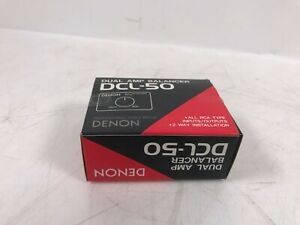Vintage Denon DCL-50 Dual Amplifier Balancer