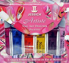 6 Jessica ARTISTE Nail Art Designer Palette Nail Polishes NIB .3 oz **REDUCED