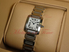 Cartier Tank Francaise Ladies, Silver Dial - Stainless Steel, Ref # W51008Q3