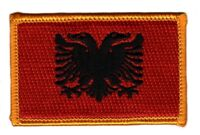 Toppe Toppa PATCH ALBANIA Bandiera 7x4.5cm banderina ricamata termoadesivo