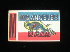 1961 Topps Flocked Stickers Inserts Los Angeles Rams M
