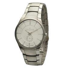 Skagen Armbanduhren aus Edelstahl mit 12-Stunden-Zifferblatt für Herren