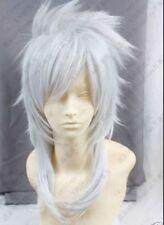 Hot Sell! Magi Sharrkan Long White Cosplay Wig Free Shipping #3