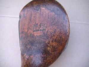 VERY RARE Antique John Dunn BGI  Wood Shaft 1 Piece  Driver
