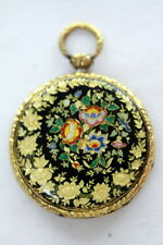 Antique Gold  Enamel Intricate  Case Pocket watch Swiss and French