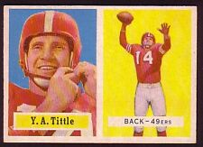 1957 TOPPS Y.A. TITTLE CARD NO:30 NEAR MINT