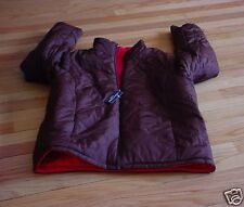 Faded Glory Ladies To Teen's Brown / Hot Pink Reversible Jacket Sz 12-14 L