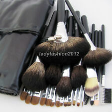 24PCS Natural Hair Makeup Brushes Eyebrow Tool Set Eyeshadow Brush Cosmetic Kit