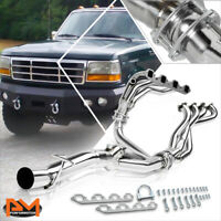 For 88-97 Ford F250/F350 7.5 V8 Stainless Steel 4-1 Racing Exhaust Header+Y-Pipe