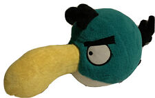 "Angry Birds Plush Green Bird Stuffed 8"" x 13"" Rovio Commonwealth Toy Co"