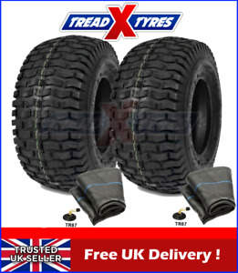 2x 4Ply Lawn Mower 11x4.00-4 Grass Two Tyres & Tubes Garden Golf Buggy Turf x2