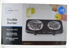 MAINSTAYS DOUBLE BURNER electric cooking camping outdoors