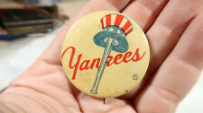 r 1940s 50s New York Yankees Button Pin Pinback Back