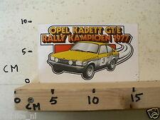 STICKER,DECAL OPEL KADETT GT/E RALLY KAMPIOEN 1977 RALLYE CAR