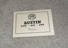 Austin A40 - A55 - A99 Colour Guide c.1960