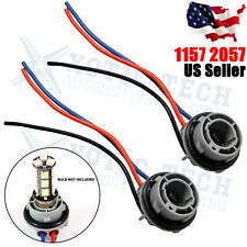 2x 1157 2057 2357 2357A LED Stop Turn Light Socket Harness Wire Pig Tail Plug