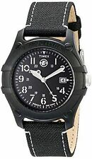 "Timex T49689, Men's ""Expedition Camper"" Black Nylon Watch, Date, Indiglo"