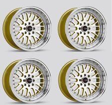 Drag Dr58 16x8.25 4/100 4/114 +25 Gold Step lip Rims Civic EG EK CRX Integra
