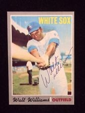 WALT WILLIAMS 1970 TOPPS Autographed Signed Baseball Card JSA 395 WHITE SOX