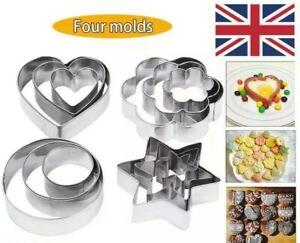 12 Pcs Metal Cookie Cutters Set Steel Mould Baking Cookies Cake Pastry Biscuit