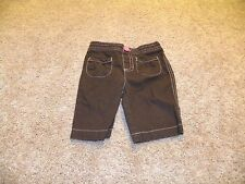 Jumping Beans Toddler Girls Brown Pink Button Pants Size 12 months