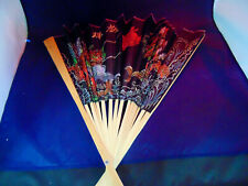 Large Asian Fan For Wall Decor~. 19 Inches Tall .~Priced At Just $9.00~L@K~