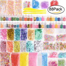 88pc Slime Supplie Kit Kids Diy Beads Charm Homemade Party Gift Filling Decor
