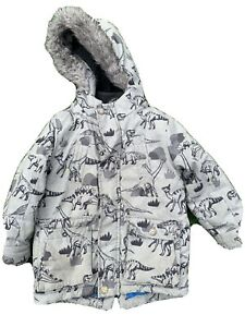 Boys Next Coat Jacket Parka 3-4 Dinosaur
