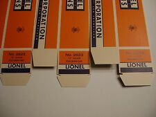 "Lionel 2623 ""O"" Gauge  Pullman Car Boxes (set of three) Licensed Reproduction"
