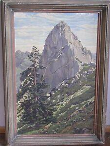 imposantes Ölgemälde Ruchenköpfe Schlierseer Berge Mangfallgebirge signiert 1940