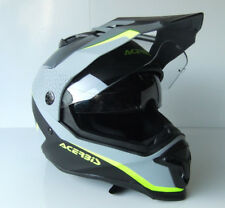 NEW Acerbis MX Reactive Black//Grey//Yellow Adventure Motocross Dirt Bike Helmet