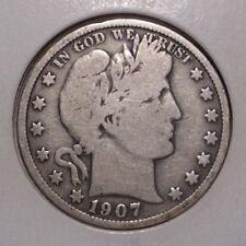 1907 Barber Liberty Head Silver Half Dollar , VG
