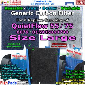 For Aqueon QuietFlow 55,75,6079,015905060790 Aquarium Power filter CompatiblePad