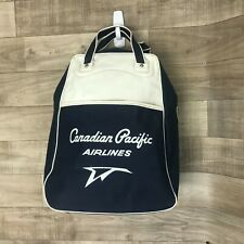 Canadian Pacific Airlines Vintage airline handbag bags blue white montreal 1967
