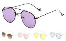 Wholesale 12 Pair Fashion Aviators Sunglasses with Color Lens - Assorted Color