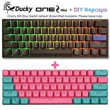 Ducky One 2 Mini Mechanical Keyboard RGB 60% Double Shot PBT + Miami Keycaps Set