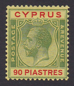 Cyprus. SG 117, 90pi green & red/yellow. Fine mounted mint.