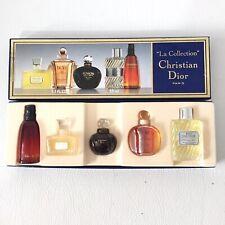 Vintage Christian Dior Boxed La Collection 5 Miniature Perfumes Eau De Toilette