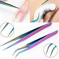 Striking Tool Stainless Steel Eyelash Cosmetic Tweezers Nail Art Accessories New