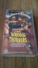WALLACE & GROMIT IN NICK PARK'S THE WRONG TROUSERS -  VHS VIDEO TAPE