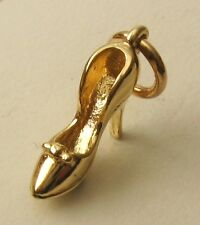 SOLID  9K  9ct Yellow Gold 3D HIGH HEEL stiletto Shoe Charm/Pendant  RRP $119