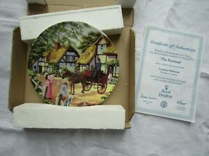 PLATE THE POSTMAN BY ROYAL DOULTON boxed / certificate